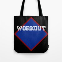 workout Tote Bags featuring WORKOUT by Gravityx9