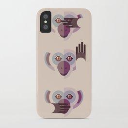 Ignore no evil iPhone Case