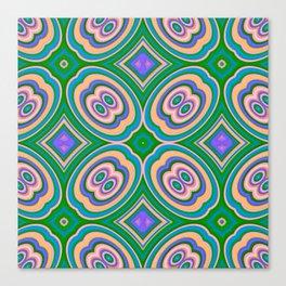 Pattern ALEX turquoise Canvas Print