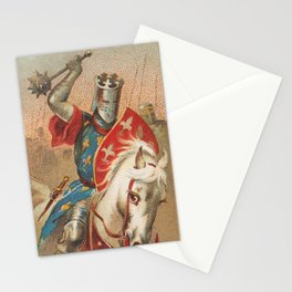 Vintage Knight With a Mace Illustration (1887) Stationery Cards