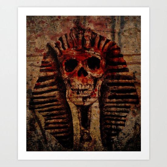 Pharaoh Skull Art Print