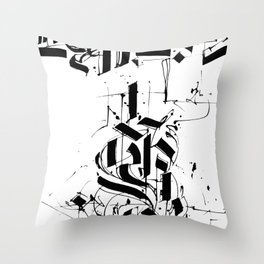 CALLIGRAPHY N°6 ZV Throw Pillow