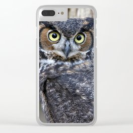 The Great Horned Owl Clear iPhone Case