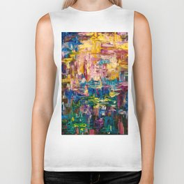 Abstract - Colorful World by Lena Owens Biker Tank
