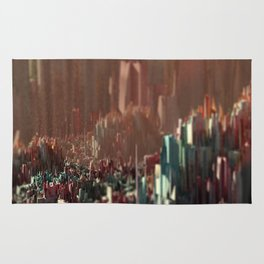Cityscape scenic aerial view beautiful painting Rug