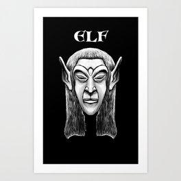 Character Creations: Elf Male Art Print