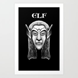 Character Creations: Elf Male Art Print