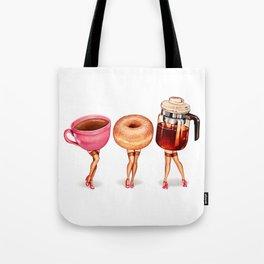 Coffee Pin-Ups Tote Bag