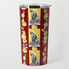 Strength - A floral tarot pattern Travel Mug