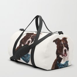 Chip the Border Collie Duffle Bag
