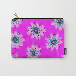 Neon Lilly Lace Rose Carry-All Pouch