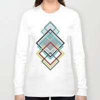 diamonds Long Sleeve T-shirts featuring Diamonds by AJJ ▲ Angela Jane Johnston