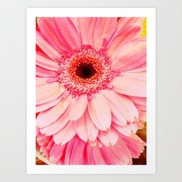 Pedaling Pink Art Print