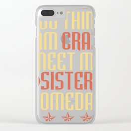 Brother Sister Gift Siblings Family Cool Clear iPhone Case