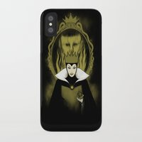 evil queen iPhone & iPod Cases featuring Evil Queen by Pigboom Art