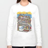 grateful dead Long Sleeve T-shirts featuring Bound To Cover Just A Little More Ground - The Grateful Dead by Schlayer Design