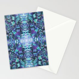 Abstract Floral Burst Stationery Cards