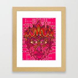 Fire God Framed Art Print
