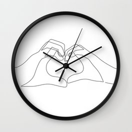 Hand Heart Wall Clock