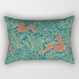 Jungle Fawn and Cat Rectangular Pillow
