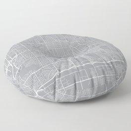 Omaha Map, Nebraska USA - Pewter Floor Pillow