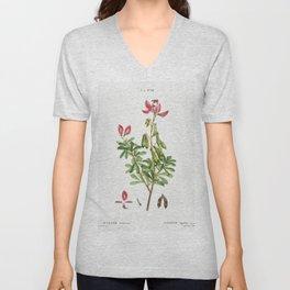 Ononis fruticosa from Traite des Arbres et Arbustes que lon cultive en France en pleine terre (1801- Unisex V-Neck