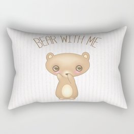 Bear With Me - Creepy Cute Teddy Rectangular Pillow