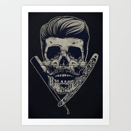 Barberskull Art Print