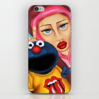 cookie monster iPhone & iPod Skins featuring Cookie Monster by shue cane