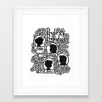 pride and prejudice Framed Art Prints featuring Pride & Prejudice Papercut  by eileenlim