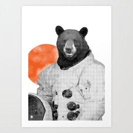 Mr. Space Bear Art Print