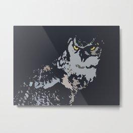 Bold Eagle Owl, Bird Of Prey Print Metal Print