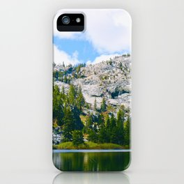 Desolation Wilderness Lake Reflection iPhone Case