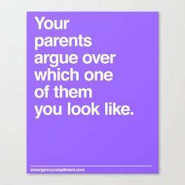 Arguing Parents Canvas Print