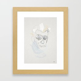 One Line Samuel Beckett Framed Art Print