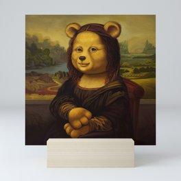 Mona Lisa Bear Mini Art Print