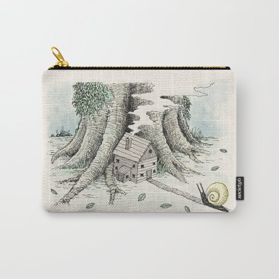 'A Visitor' (Colour) Carry-All Pouch