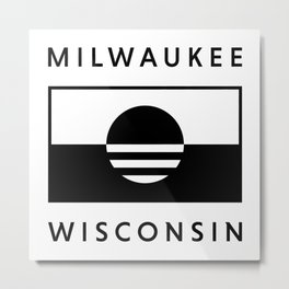Milwaukee Wisconsin - White - People's Flag of Milwaukee Metal Print