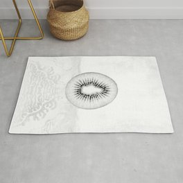 Black and White Kiwi Fruit Rug