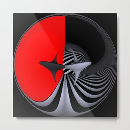 circular images on black -28- Metal Print