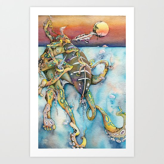 Zulu Blue Ringed Octopus Art Print