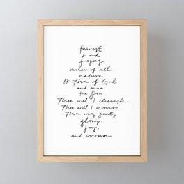 Fairest Lord Jesus Hymn Lyric Framed Mini Art Print