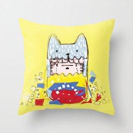 Partes de mi Throw Pillow