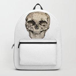 Human Skull En Face Backpack