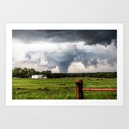 Siren - Large Tornado In Texas Panhandle Art Print