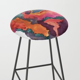 Carnival: a vibrant mixed media piece inspired by New Orleans Bar Stool
