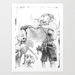 Punks Undead Art Print