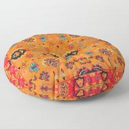 Orange Bohemian Oriental Traditional Moroccan Artwork Floor Pillow