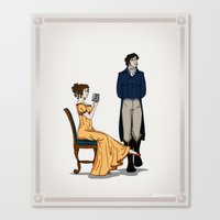pride and prejudice Canvas Prints featuring Pride and Prejudice by wolfanita