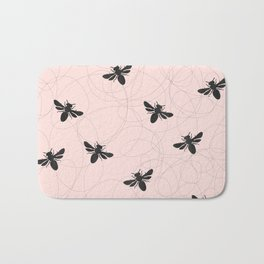 Bee Dance on Pink - Mix & Match With Simplicity of Life Bath Mat
